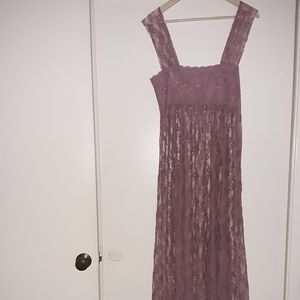 Intimately by Free People sheer lace maxi dress